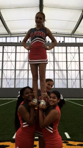 Destiny and her stunt group. Destiny is at the bottom left.